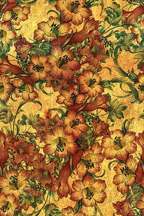 手绘黄色抽象油彩花