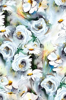 渲染水彩效果绘花