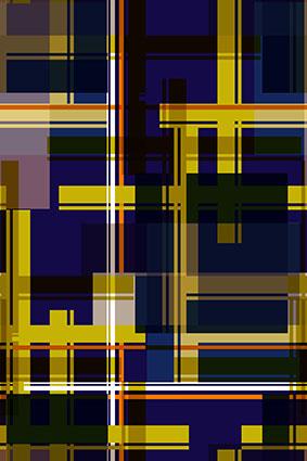 格子叠加几何条纹