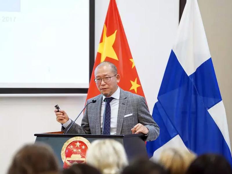 芬兰中资企业协会成立揭牌仪式在赫尔辛基举行