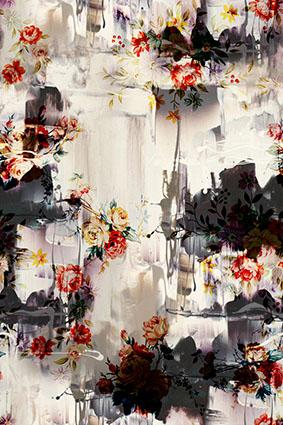 抽象复古娇娆女装花型