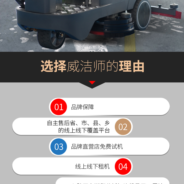 DC660 驾驶式全自动双刷洗地机