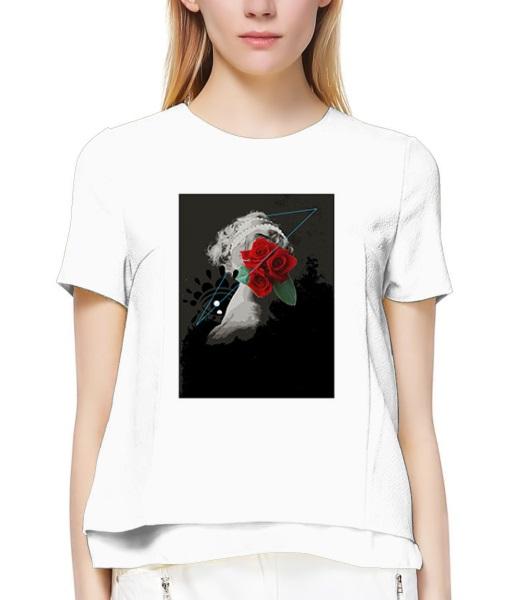 艺术抽象美女红花像