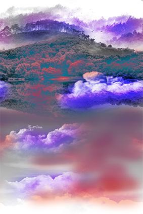 云霄彩云天空深林