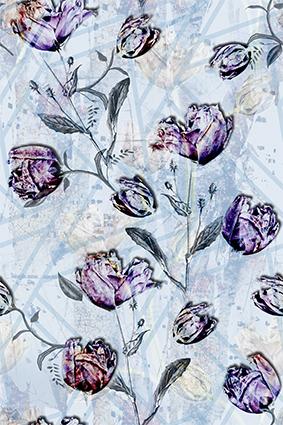 浅灰底雕饰装饰绘花