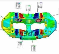 汽车自动刹车系统配件三维检测