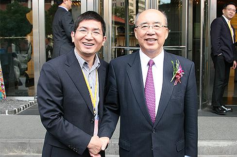 台湾吴伯雄主席接见赖夏荣总经理