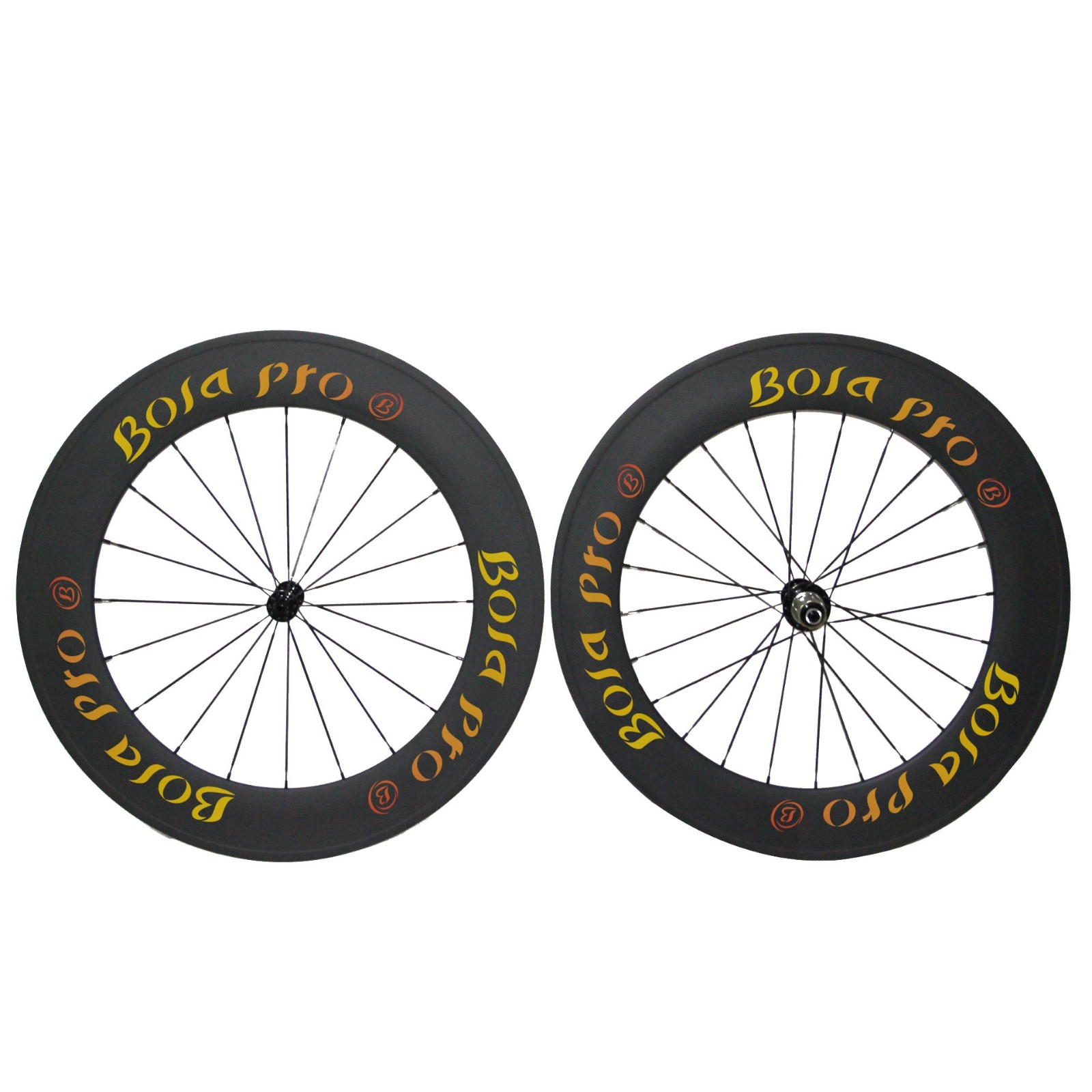 700C 88mm carbon wheelset with Powerway R13