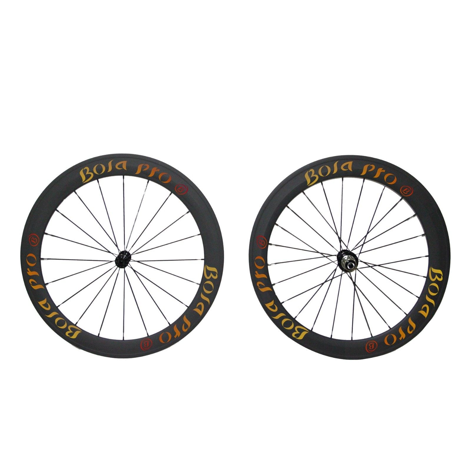 700C 55mm carbon track wheelset