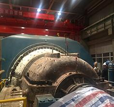 Super large steam turbine 3D scanning