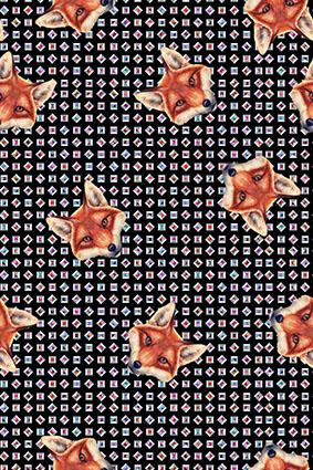 几何多边形宝石可爱狐狸头像