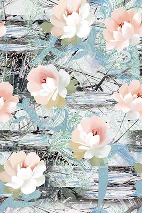 腰果抽象底矢量效果花卉