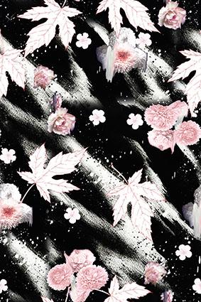 磨砂渐变平面枫叶
