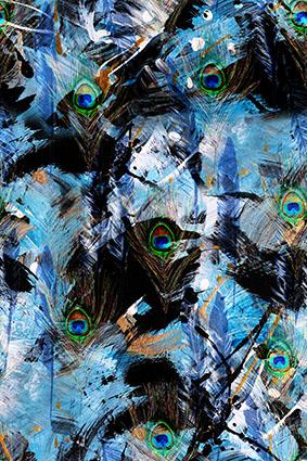 抽象水彩绚丽涂鸦图案