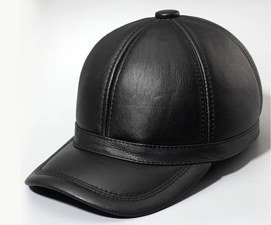 男士绵羊皮秋冬季保暖棒球帽