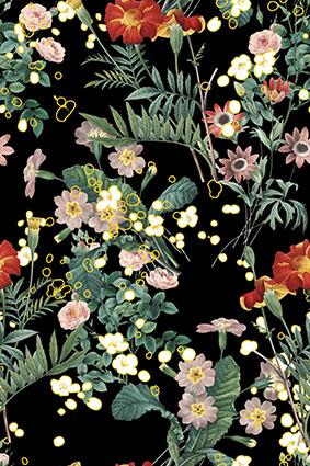 典雅树叶淡雅花卉