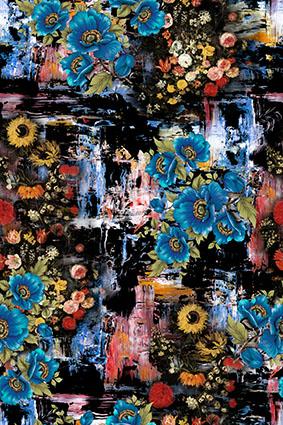 抽象花底暗香花蕾