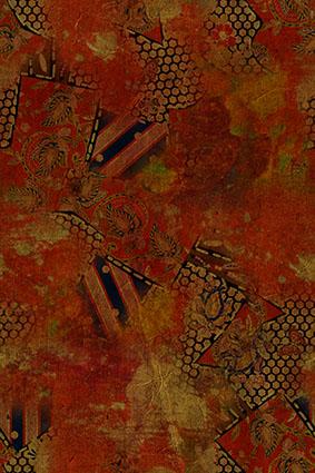 复古红袍古典图案