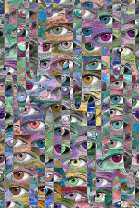 炫彩抽象眼睛创意图