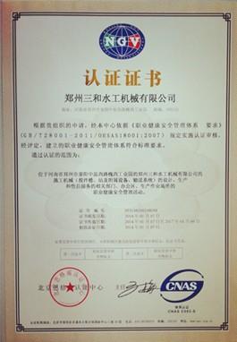 职业健康安全管理体系 中文