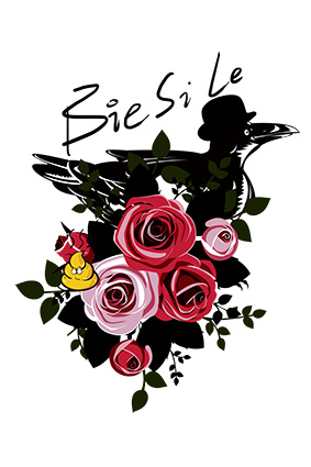 矢量花朵黑色帽子乌鸦