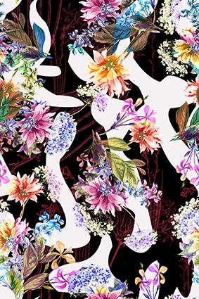 娇媚烂漫水彩花朵
