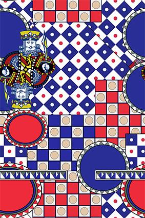几何色块矢量扑克牌