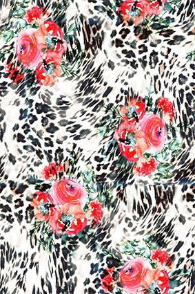 抽象豹纹效果花坛