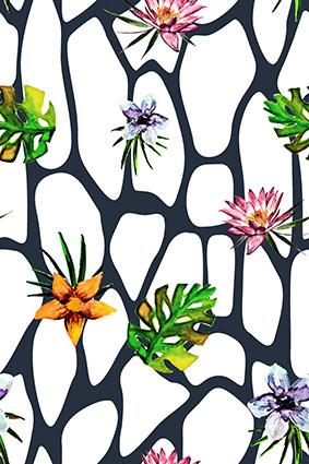 简易植物花叶图形