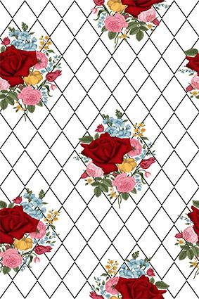 素描棱角手绘玫瑰