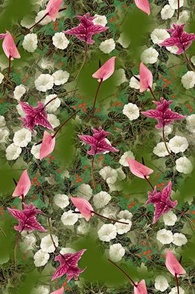 元素花丛繁花似锦