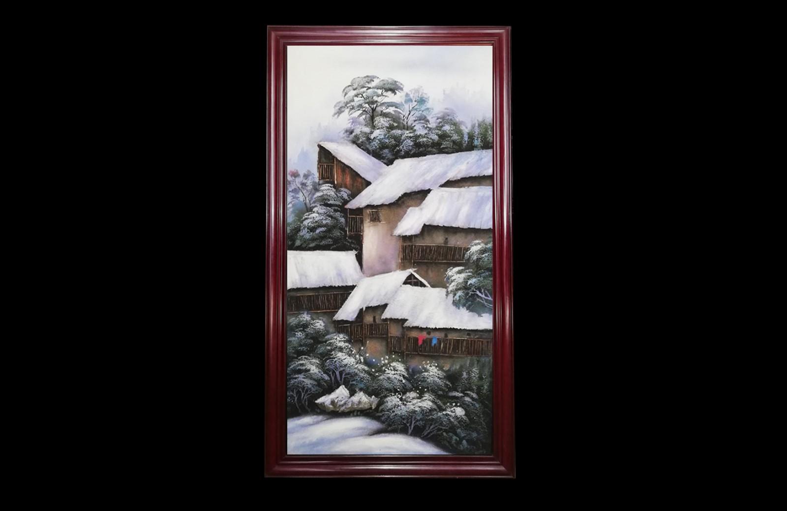 皓雪深处见禅缘