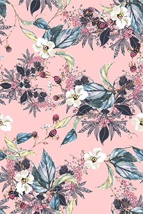 斑斓手绘效果花卉