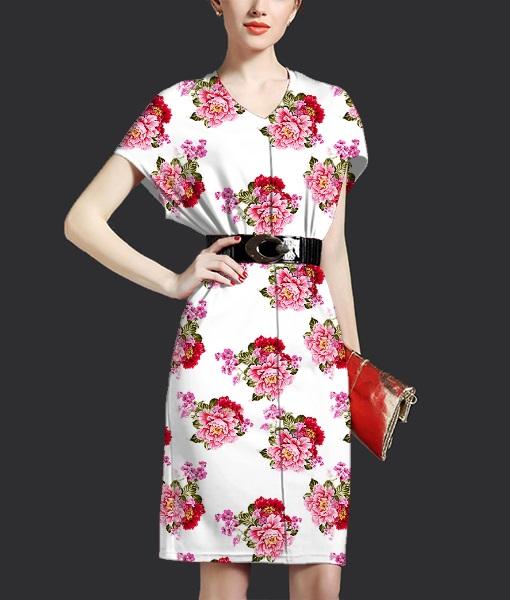 时尚炫彩牡丹花卉