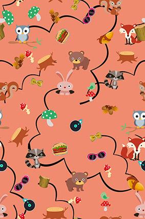 动物卡通橘底乐园