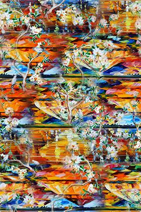 水彩颜料炫彩花型