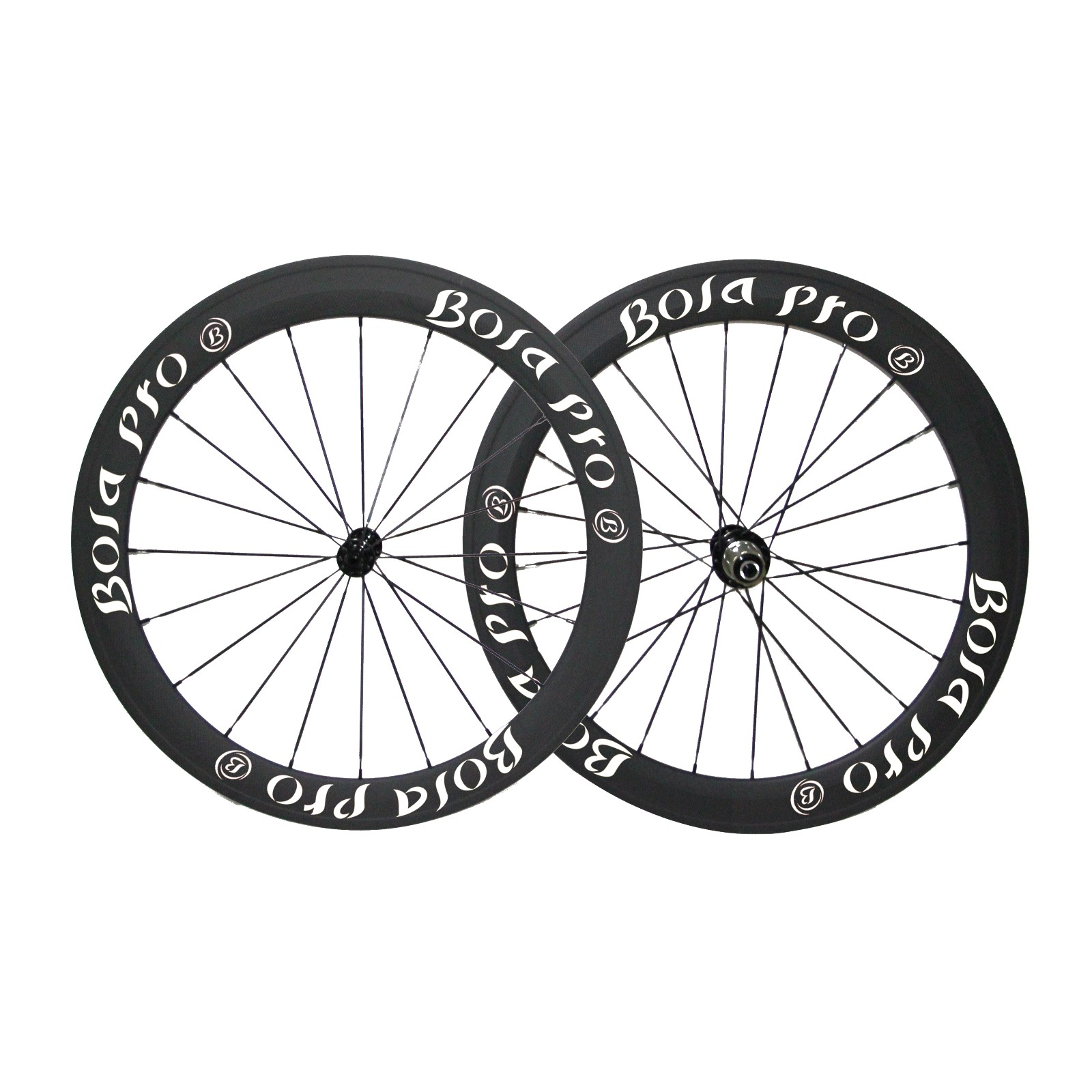 700C 45mm carbon track wheelset with center lock and straight pull hub