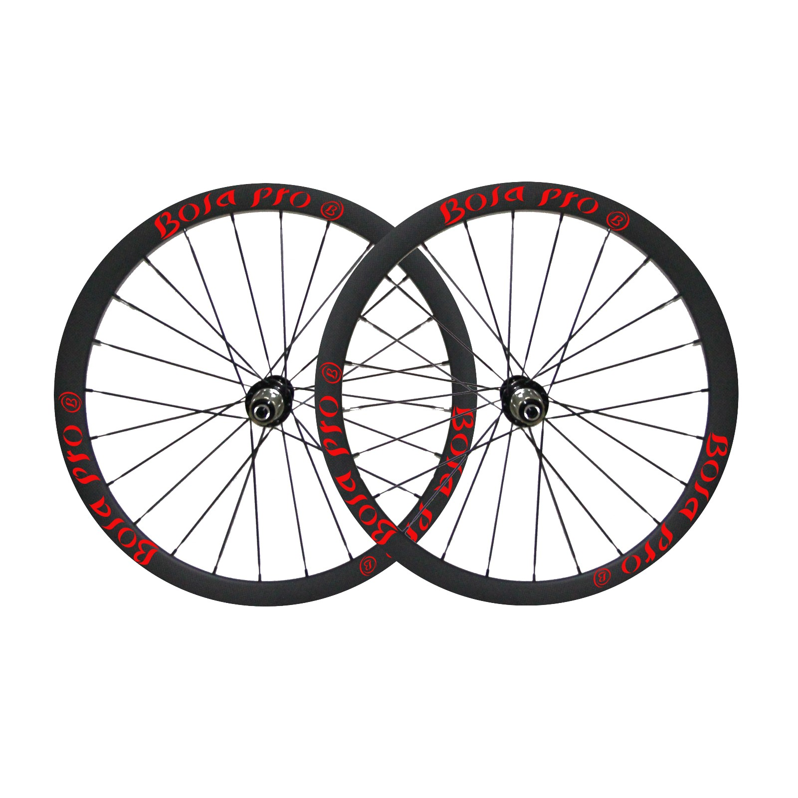 700C 35mm carbon track wheetset with center lock and straighpull hub