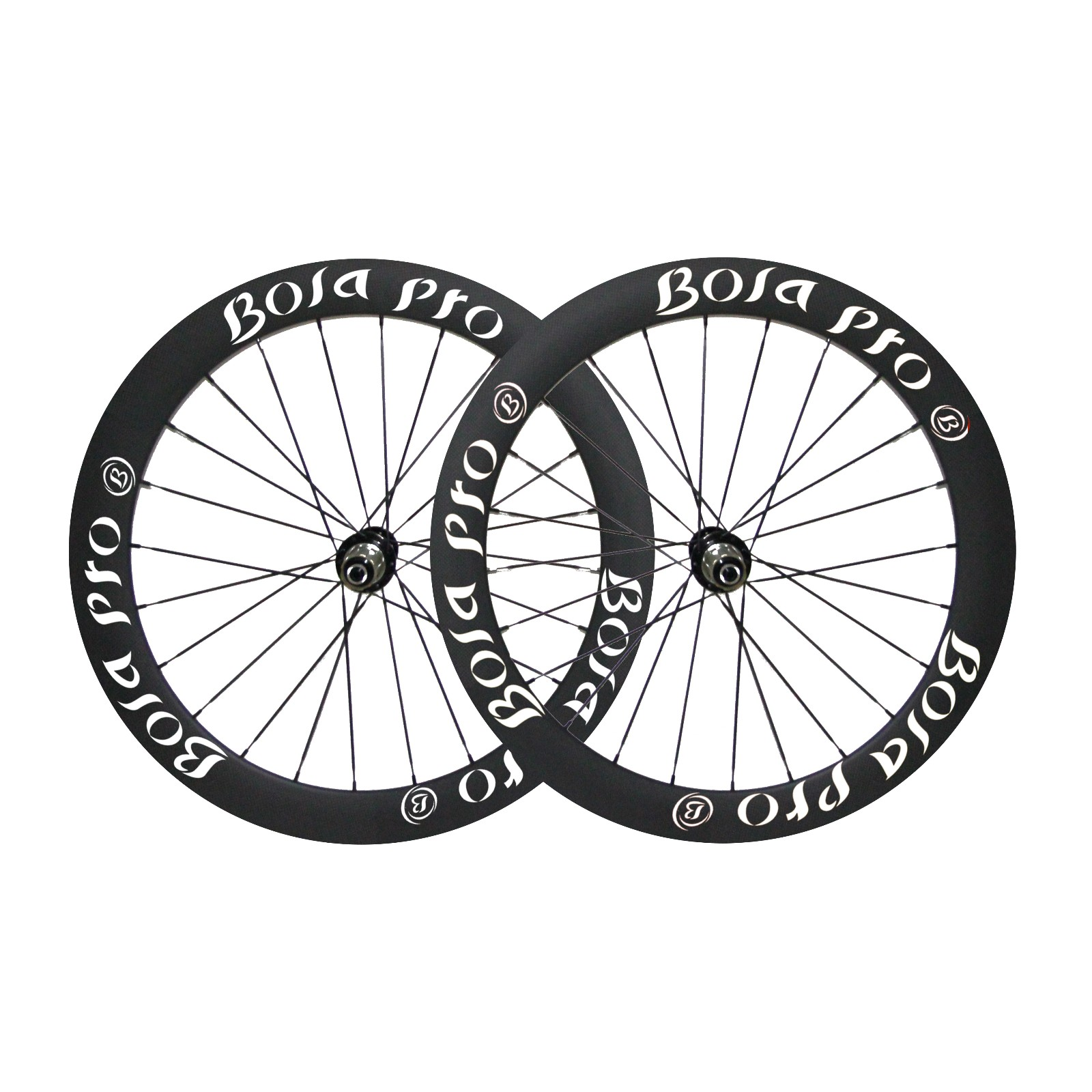 700C 55mm carbon wheelset with  disc brake hub