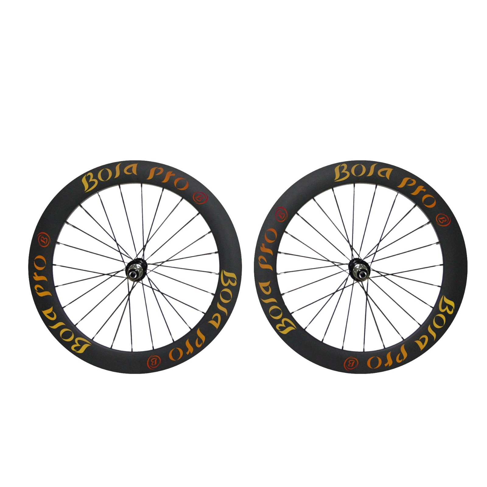 700C 75mm carbon wheelset with disc brake hub