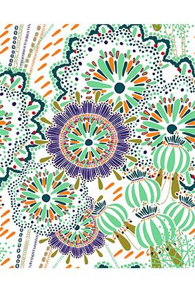 色彩斑斓平花蕾