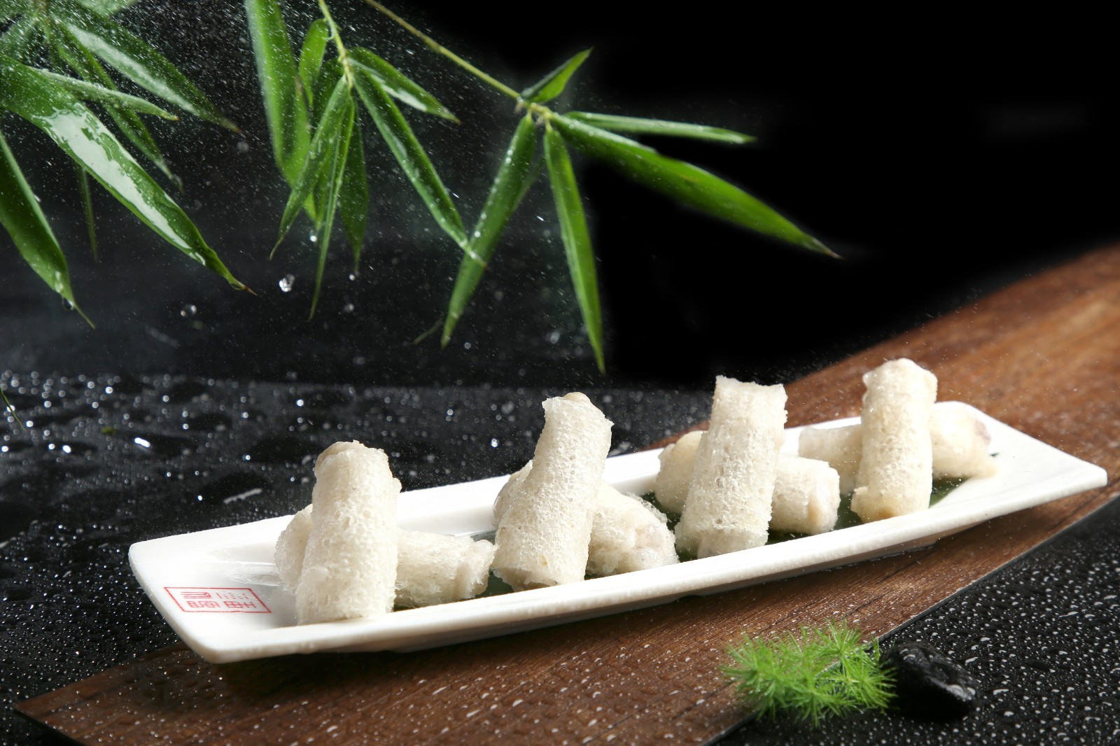 竹荪酿虾滑