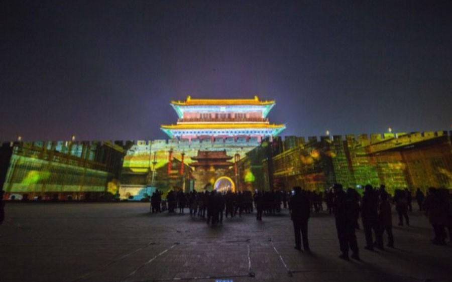 河北正定2018年春节古今真定府,璀璨常山夜灯光秀