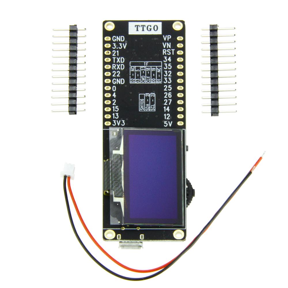 TTGO T-Eight Esp32 SH1106 1 3 inch OLED display(5-SDA 4-SCL) IPEX 3D