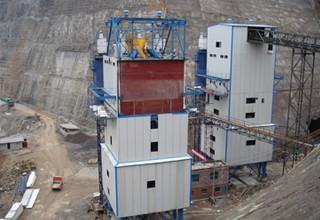 【項目展示】金沙江向家壩HL240-4F3000型攪拌樓