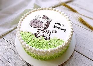 卡通绘画蛋糕