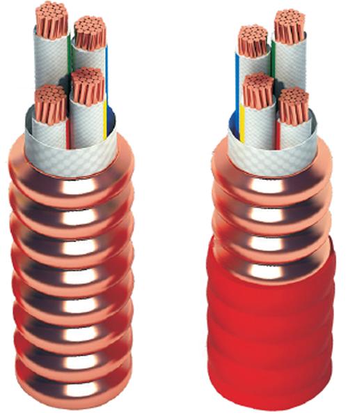 柔性轧纹铜护套矿物绝缘电力电缆