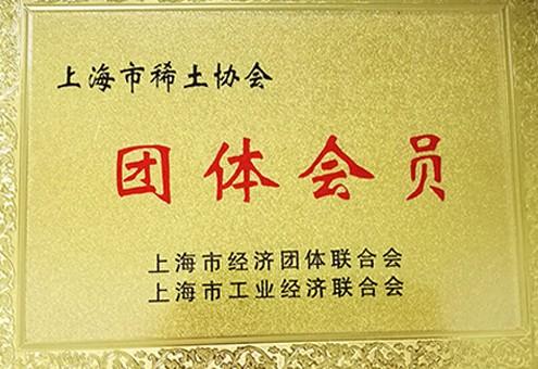 上海市工业经济联合会会员证书