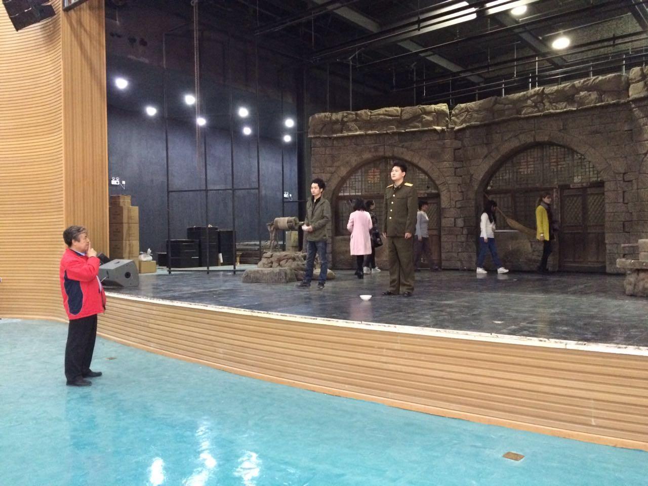 大戏《黄土谣》进入新校区北演剧场首次排练