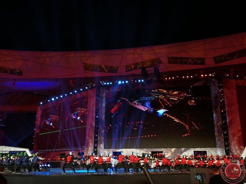 英雄联盟S7鸟巢开幕,我院舞蹈团倾情助演